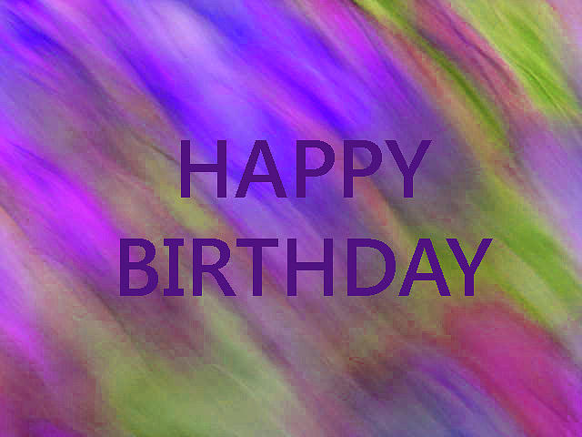 Birthday Digital Art - Birthday purple silk by Corinne Carroll