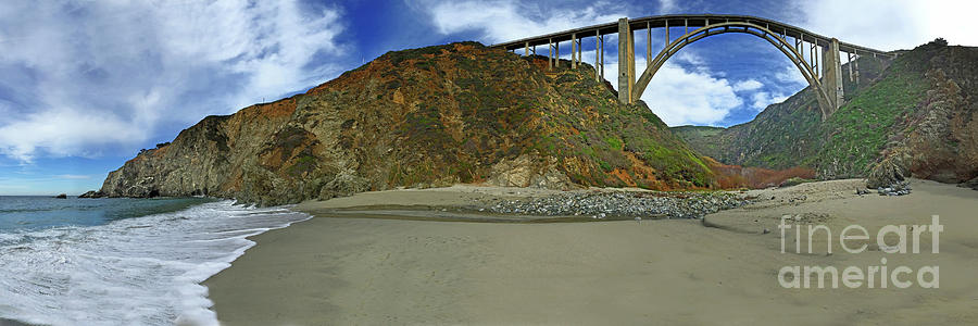 Bixby Creek Bridge and Bixby Landing from Bixby Beach by California Views Archives Mr Pat Hathaway Archives