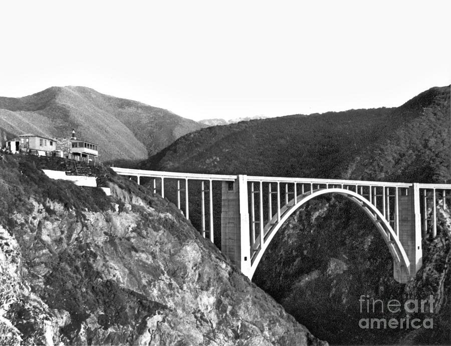 Bixby Creek Bridge, Big Sur, Calif. 1946 by California Views Archives Mr Pat Hathaway Archives