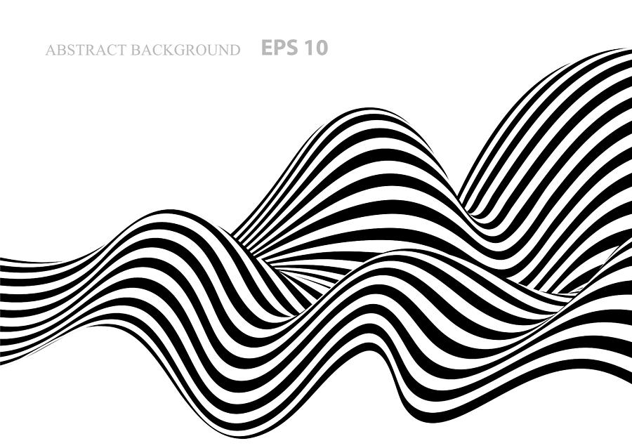 Black and white abstract background with stripes Drawing by A-r-t-i-s-t