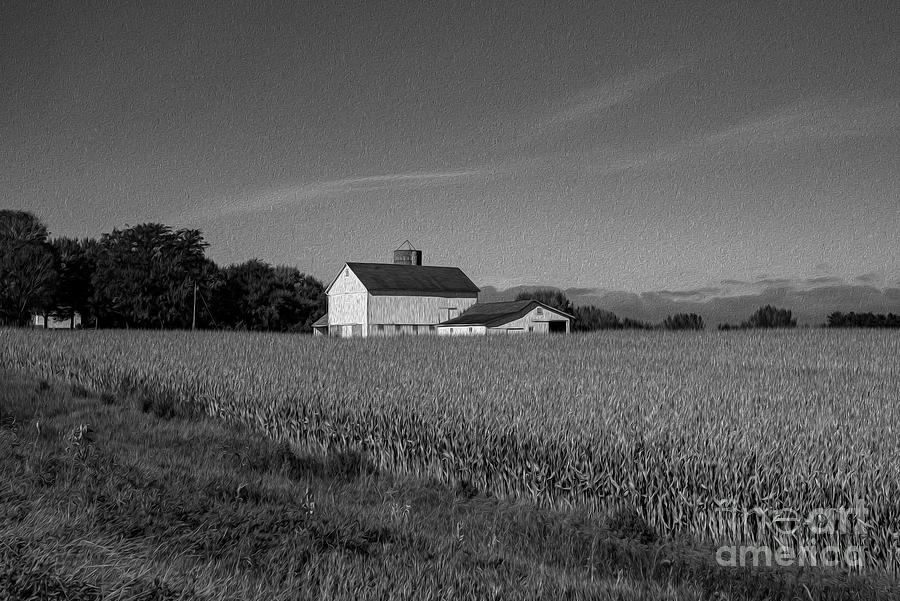 Black And White Photograph - Black and White Farmstand by David Bearden
