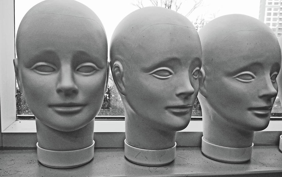 Black And White Heads No Hair  Canon May 2011 2 442020 1190 Photograph by David Frederick