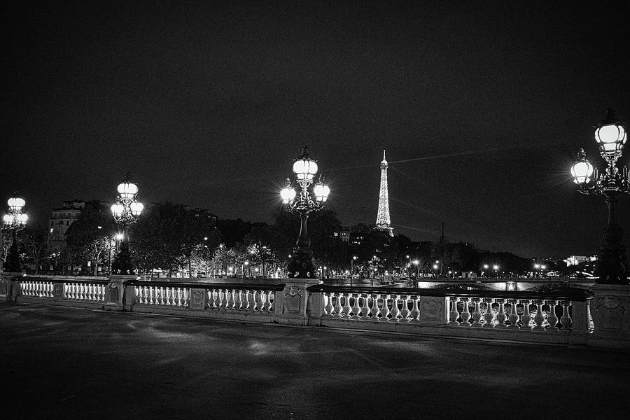 Black and White Night in Paris by Portia Olaughlin