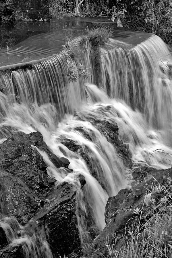 Black And White Silken Waters Photograph