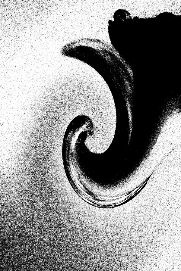 Abstract Photograph - Black And White Twirl by Holly Morris