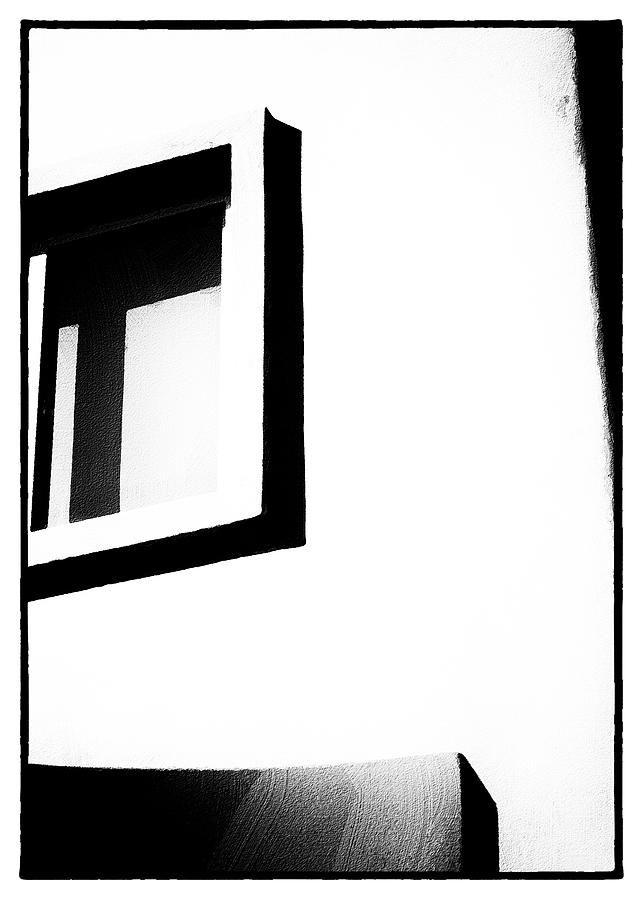 Black And White Window Photograph