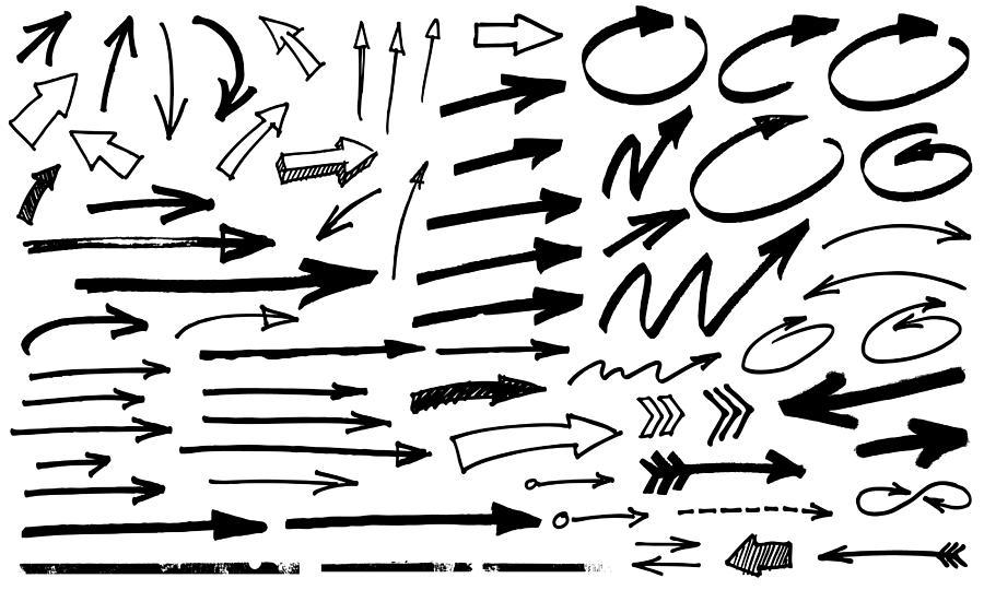 Black Arrows Drawing by Enjoynz