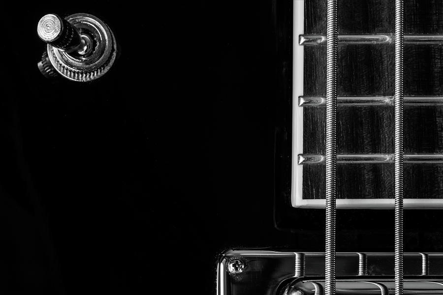 Black Bass Guitar Abstract One by Glenn DiPaola