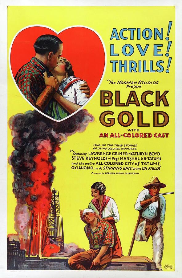 black Gold Movie Poster 1927 Mixed Media