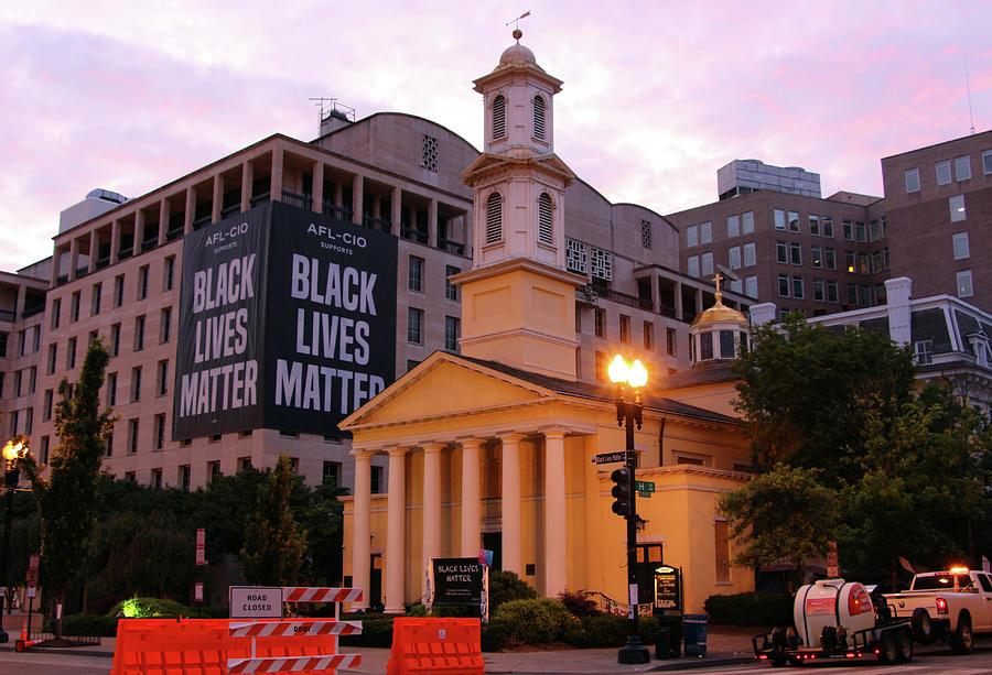 Black Lives Matter At St. Johns Episcopal Church Photograph