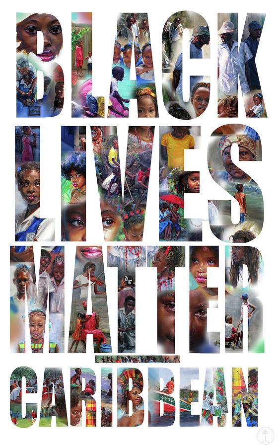 Black Lives Matter Painting - Black Lives Matter-Caribbean by Jonathan Gladding