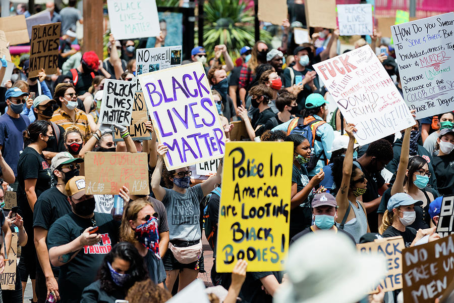 Black Lives Matter Protesters Photograph
