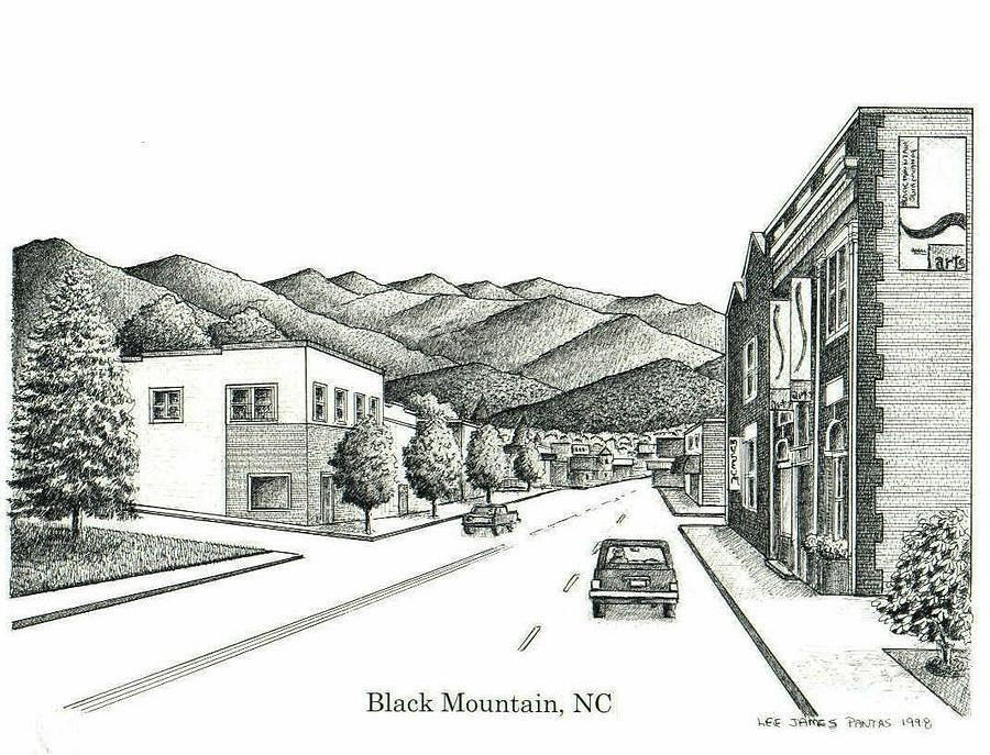 Black Mountain Drawing - Black Mountain North Carolina by Lee Pantas