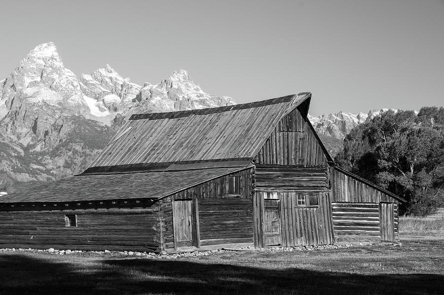 Black N White Mormon Row Photograph