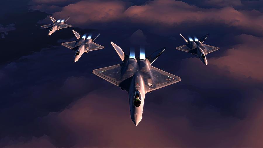 Yf-23 Digital Art - Black Widow Pack by Hangar B Productions