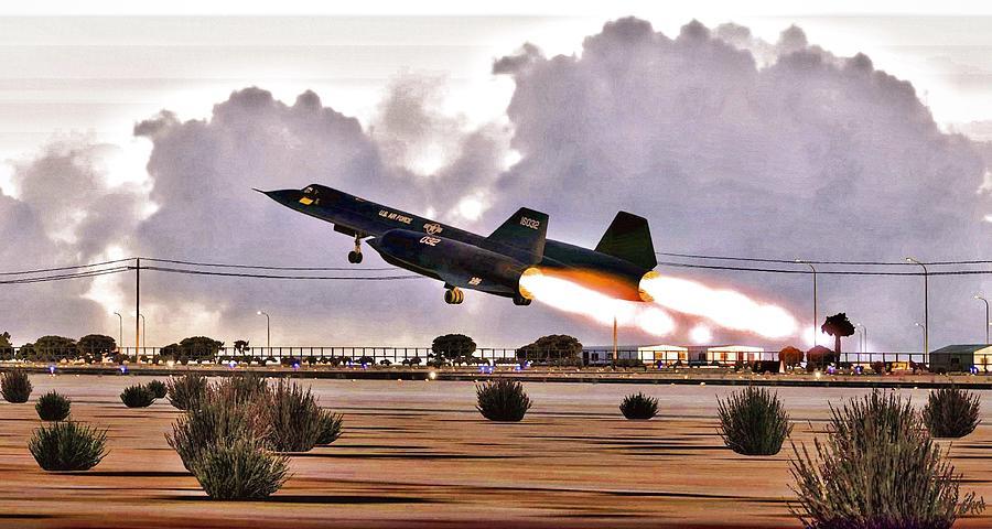 Lockheed Digital Art - Blackbird Print 2 by Pete Hawk