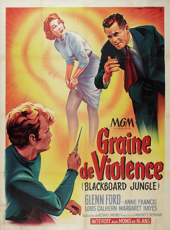 Blackboard Mixed Media - Blackboard Jungle - 1955 by Stars on Art