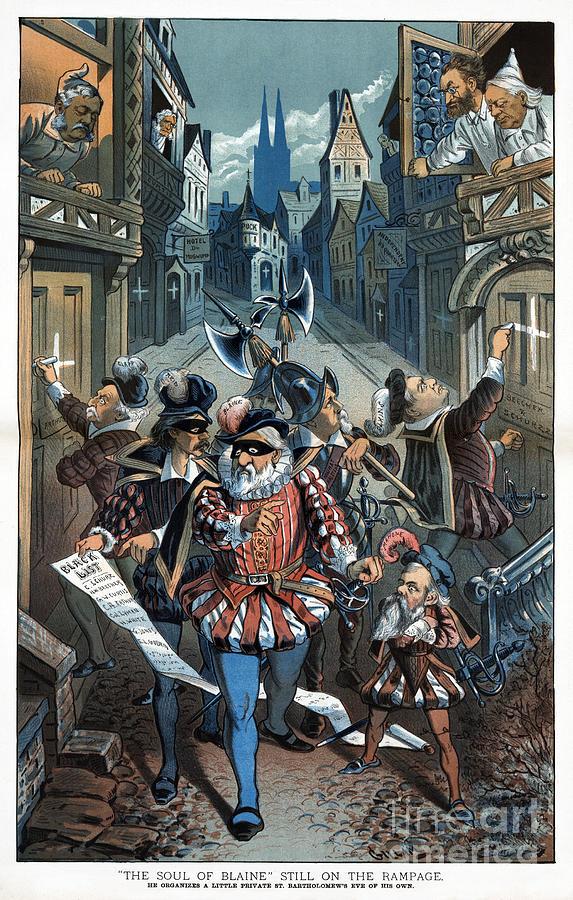Blaine Cartoon, 1885 by Bernhard Gillam