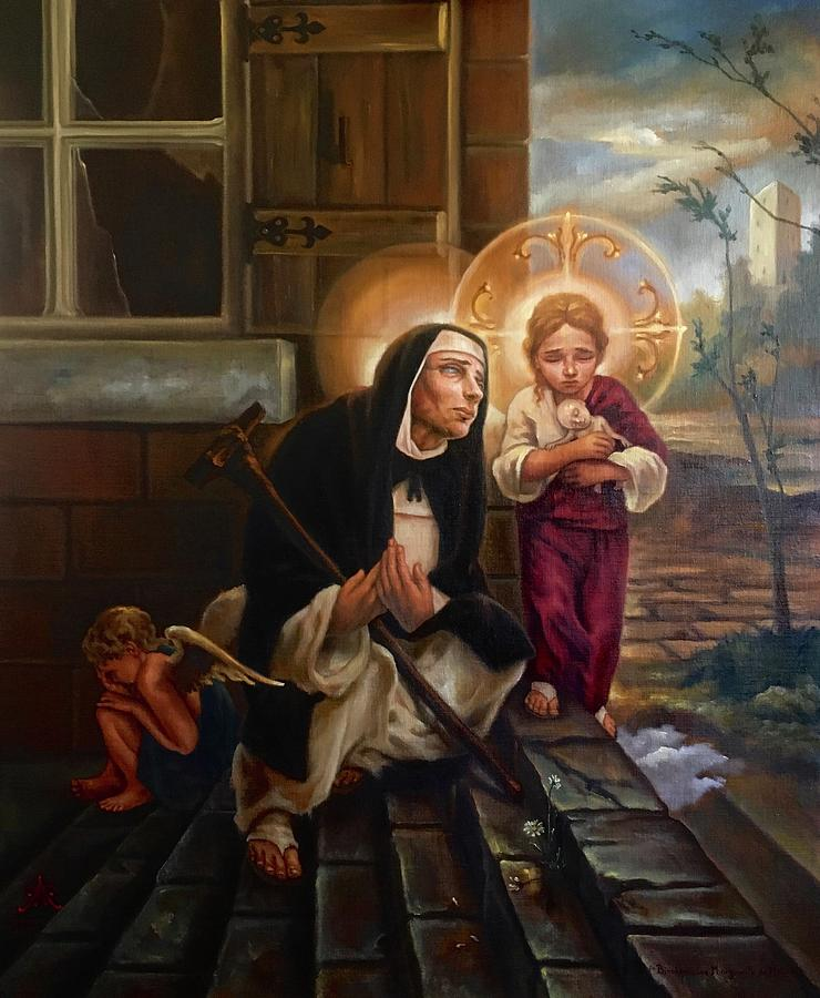 Blessed Margaret of Castello Painting by Paul Armesto