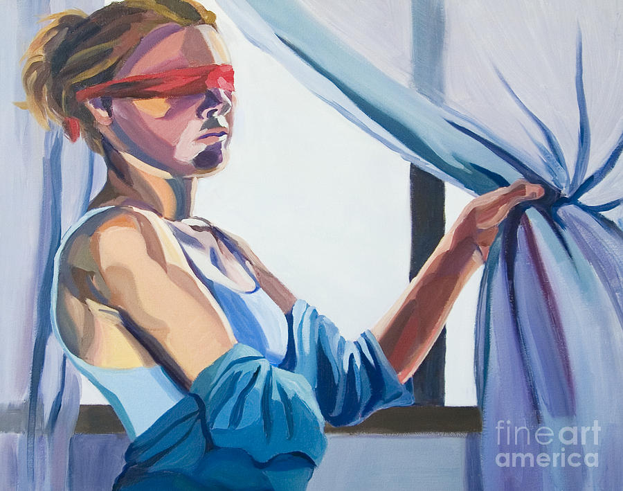 Conceptual Painting - Blindfold by Angelique Bowman
