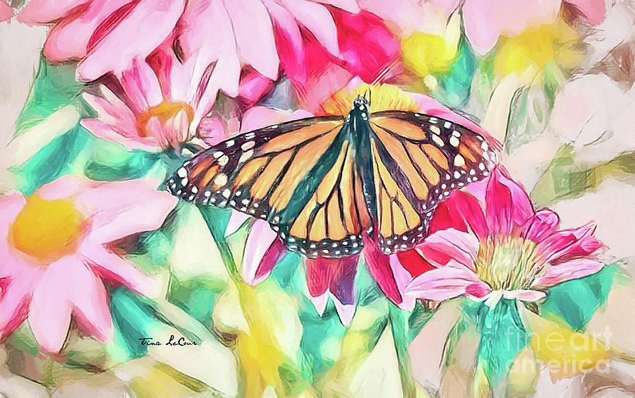 Blissful Monarch Digital Art