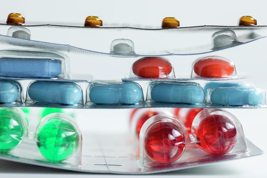 Blister packs of drugs by Karen Foley