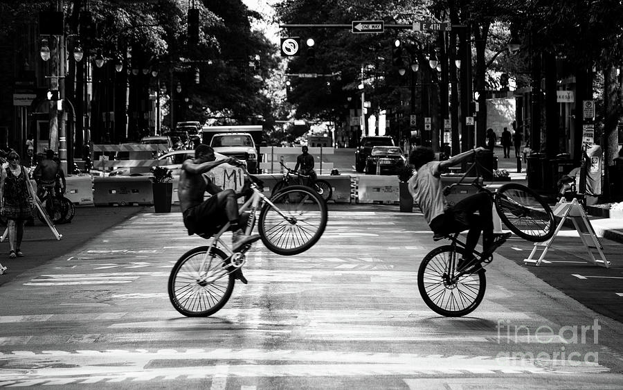 Blm Double Wheelies Photograph