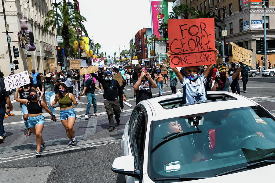 Blm Hollywood Protesters Photograph