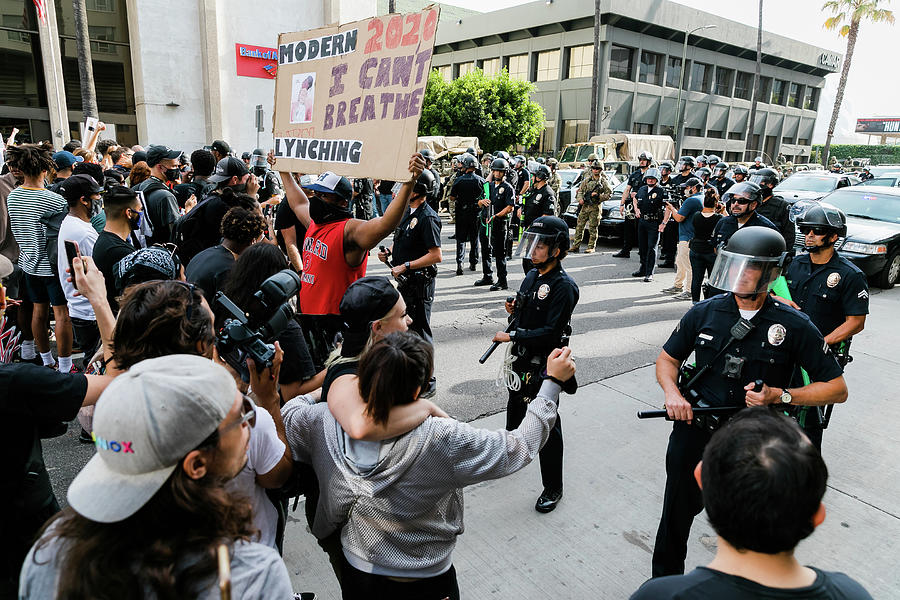Blm Protesters Vs Lapd Photograph