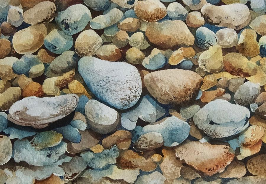 Block Island Rocks by Lael Rutherford
