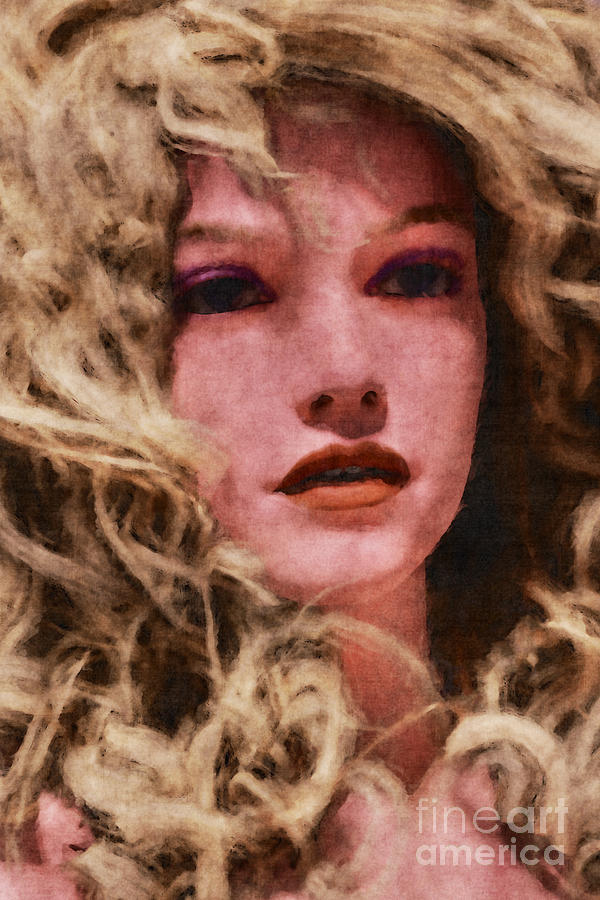 Blonde Curly Haired Portrait by Clayton Bastiani