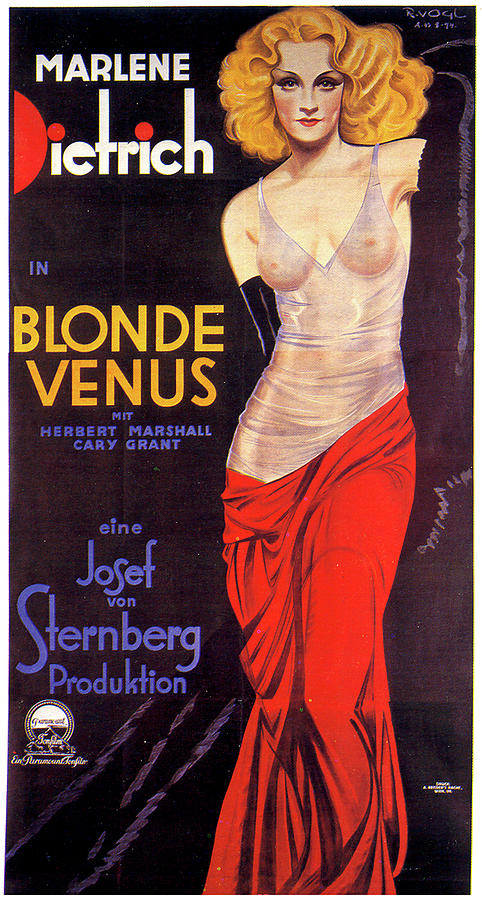 blonde Venus Movie Poster 1932 Mixed Media