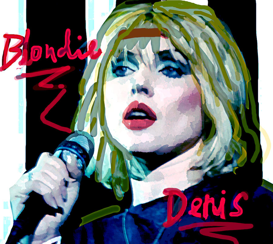 Blondie Denis 1977  by Enki Art