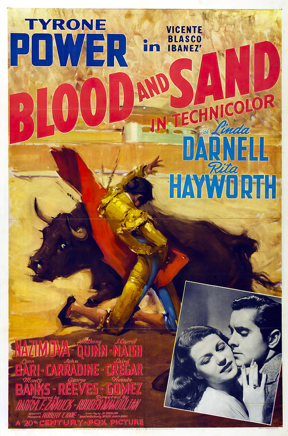 blood And Sand, With Tyrone Power, 1941 Mixed Media