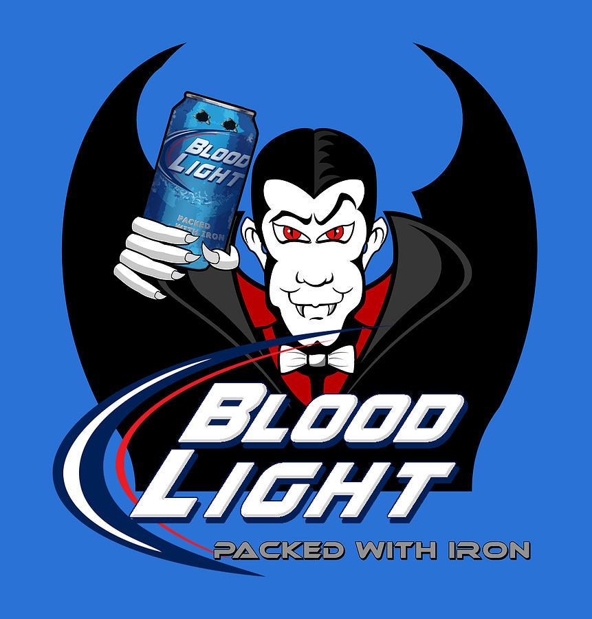Beer Digital Art - Blood Light by Rick Bartrand
