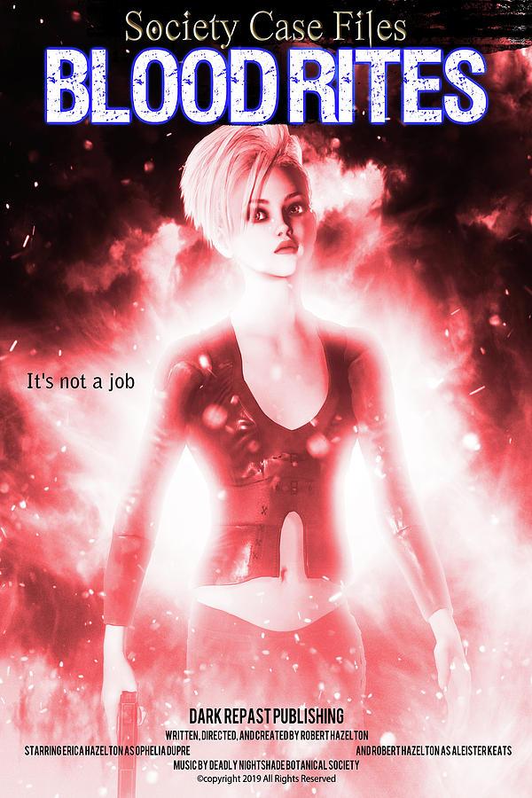 Fairy Digital Art - Blood Rights Poster by Robert Hazelton