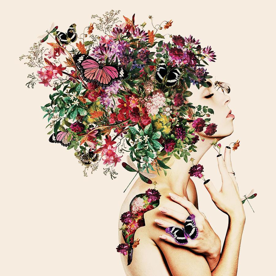 Blooming Woman Digital Art