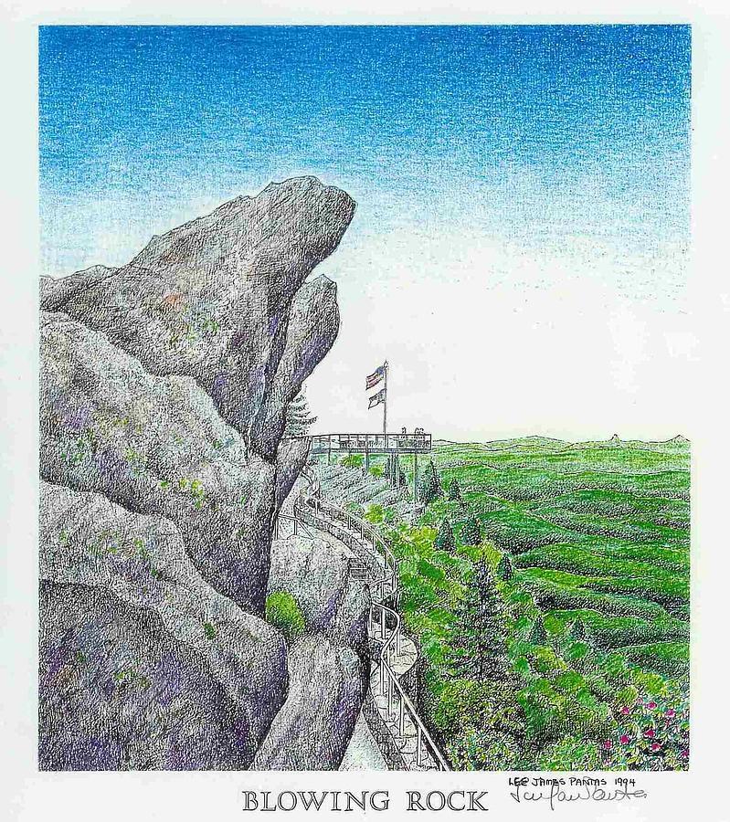 Blowing Rock Drawing - Blowing Rock by Lee Pantas