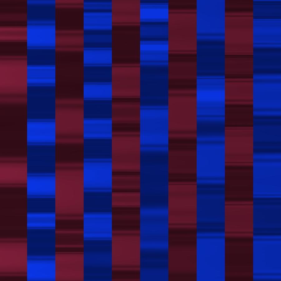 Blue And Grana Waves Sport Digital Art