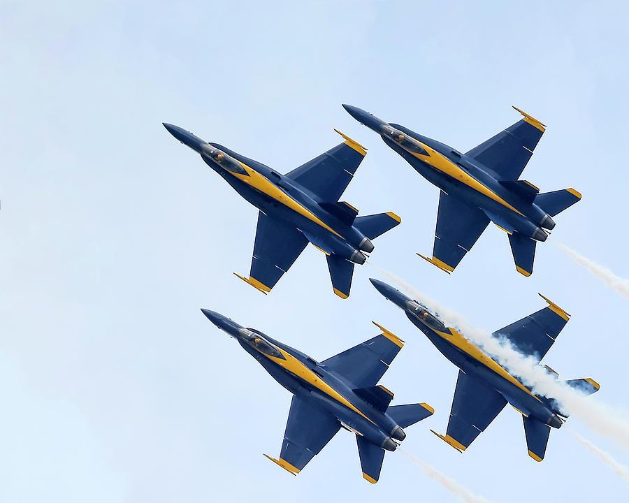 Blue Angels 4 In Formation by Gigi Ebert