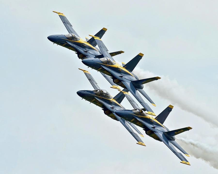 Blue Angels F18 Fighter Jets by Gigi Ebert