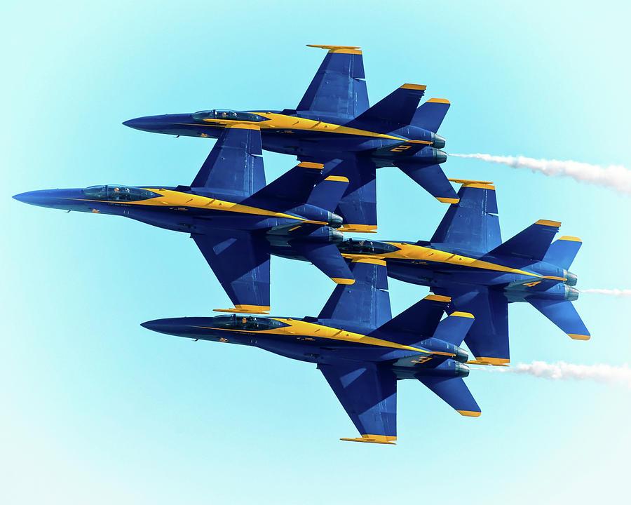 Blue Angels Fighter Jets Airshow by Gigi Ebert