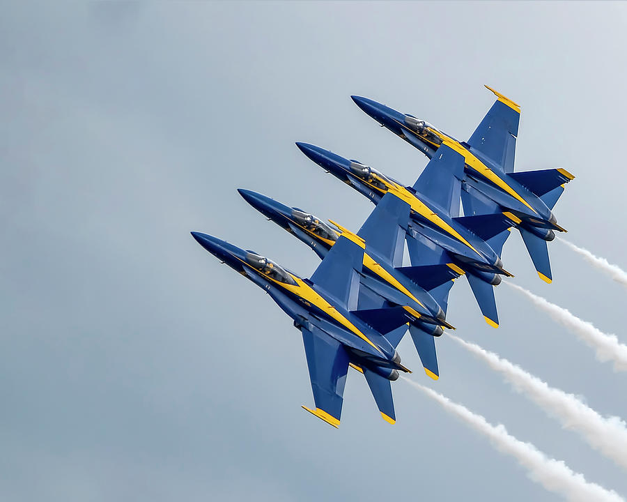 Blue Angels In Formation by Gigi Ebert