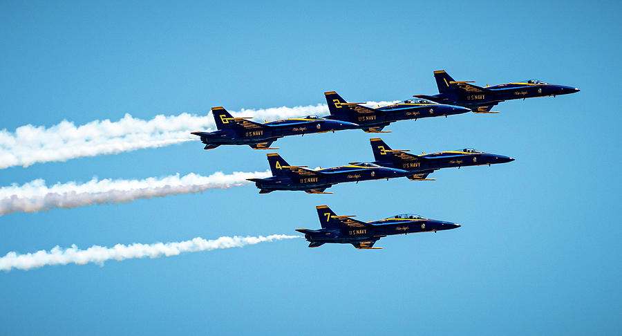 Blue Angels Over Houston Photograph