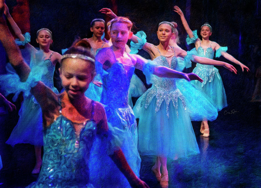 Blue Ballerinas by Craig J Satterlee