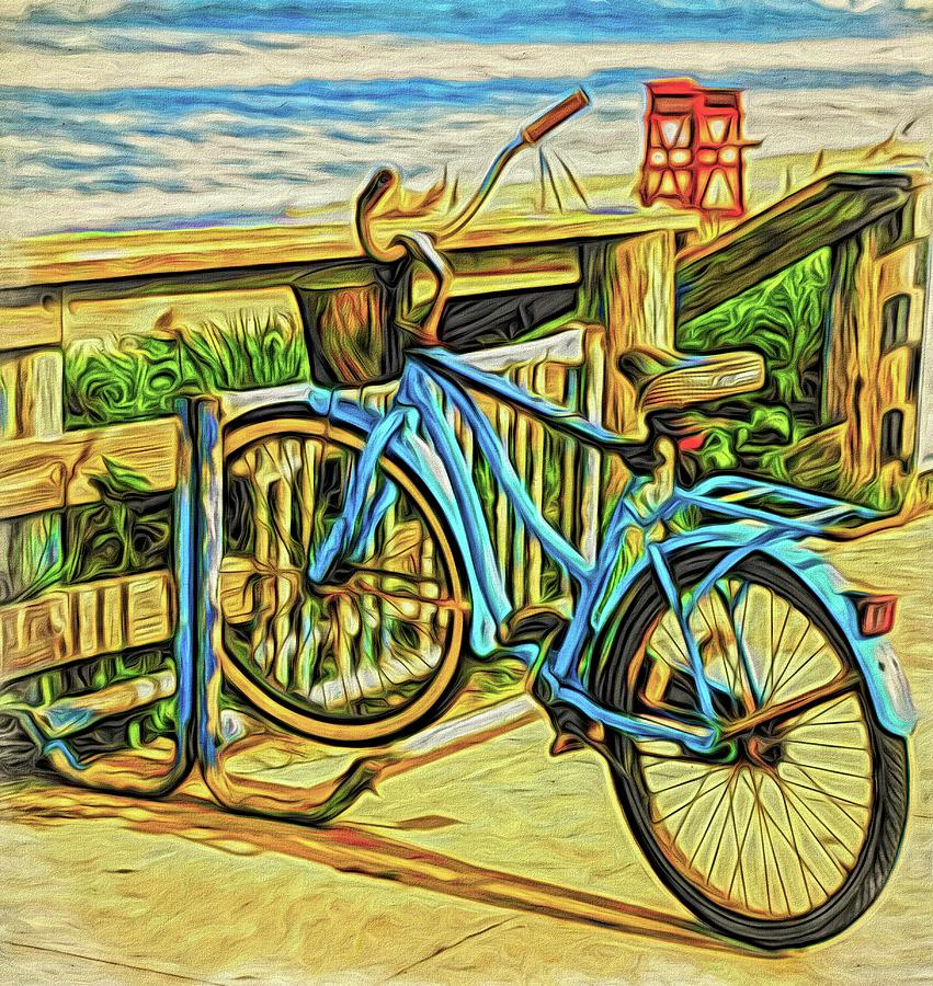 Blue Beach Bike by Alice Gipson