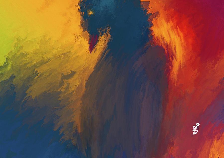 Blue Bird #j0 Digital Art
