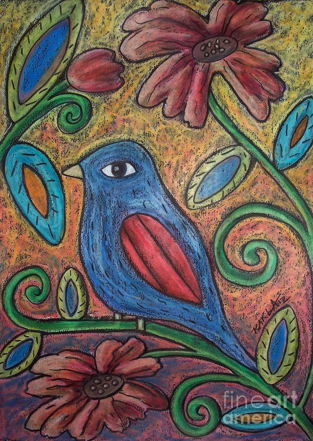 Blue Bird Pastel - Blue Bird by Karla Gerard