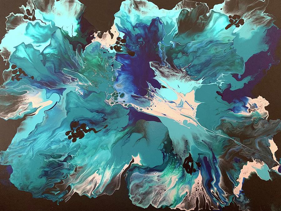 Blue Gardenia Painting