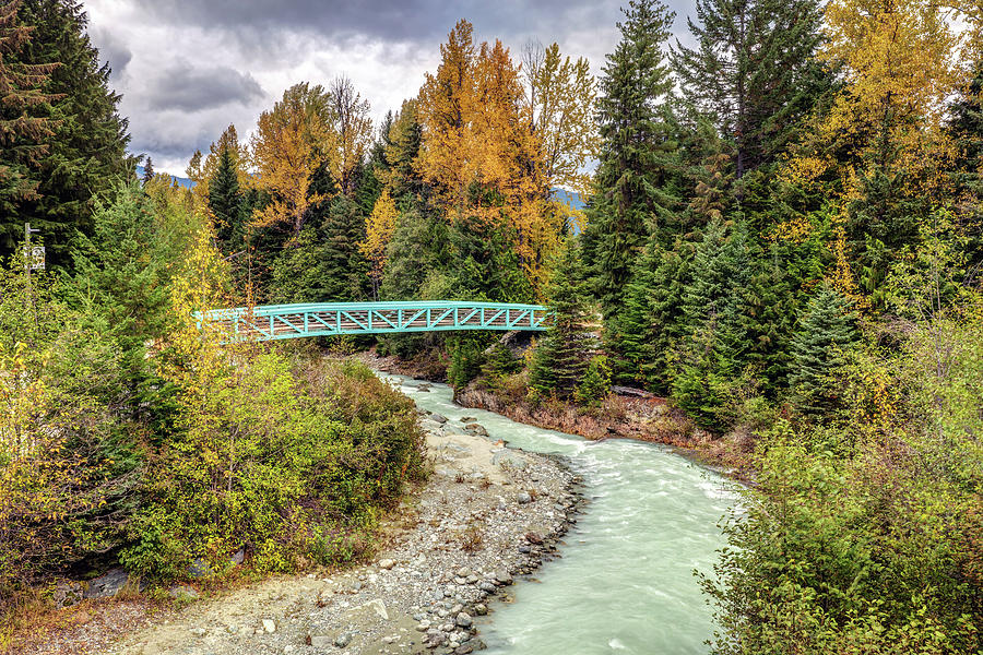Blue Bridge Of The Fitzsimmons Creek Photograph